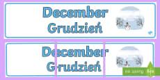December Display Banner English/Polish