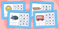 CVC Words U Spelling Flipchart