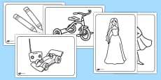 Toys Colouring Sheets