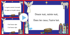 Silent Night Christmas Carol Lyrics PowerPoint French
