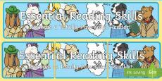 * NEW * SATs Survival Year 2: Reading Skills Display Banner