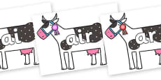 Phase 3 Phonemes on Cow to Support Teaching on What the Ladybird Heard