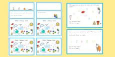 Summer Themed Junior Maths Challenge Cards