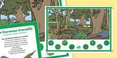 Crocodile Can you Find...? Poster and Prompt Card Pack to Support Teaching on The Enormous Crocodile