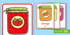 Jam Jars Colour Flashcards Flashcards French