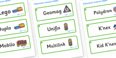 Lime Tree Themed Editable Construction Area Resource Labels