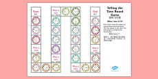 Telling The Time Board Game KS1 O'clock, Half Past, Quarter To and Past Mandarin Chinese Translation