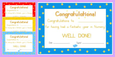 Editable End Of Year Award Certificates