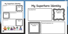 Superhero Transition Writing Frame