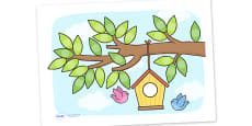 Birdhouse Sticker Chart For Small Stickers