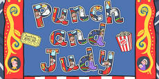 Punch and Judy Display Lettering