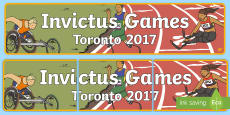 Invictus Games Time and Place Banner