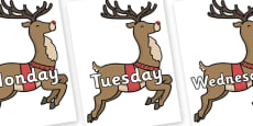 Days of the Week on Rudolph