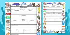 Under The Sea Themed Editable Individual Lesson Plan Template