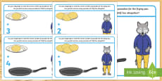 Addition Playdough Mats to Support Teaching on Mr Wolf's Pancakes