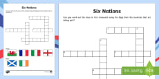 Rugby Six Nations Crossword