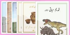 British History Timeline Posters Urdu