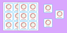 Write the Time O'clock Cards Polish