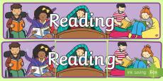 Reading Display Banner