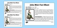 Scottish Significant Individuals John Muir Fact Sheet
