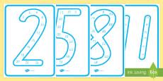 Number Multiples Display Posters