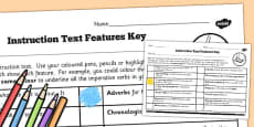 Features of an Instruction Text Checklist