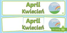 * NEW * April Display Banner English/Polish