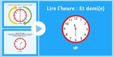 * NEW * PowerPoint : Et demi(e) - Lire l'heure
