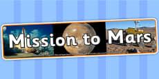Mission to Mars IPC Photo Display Banner