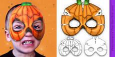 3D Halloween Pumpkin Monster Role Play Mask