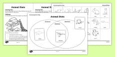 Animal Diets Activity Sheet