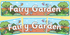Fairy Garden Display Banner