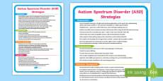 ASD Support Strategies Display Poster