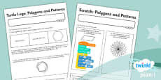 PlanIt - Computing Year 3 - Programming Turtle Logo and Scratch Unit Home Learning Activity Sheets