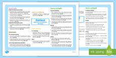 Scotland Interdisciplinary Topic Web CfE First Level