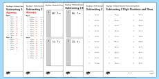 KS1 Arithmetic Content Practice Activity Sheet Pack Subtracting 2 Digit Numbers and Ones