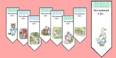 Beatrix Potter - The Tale of Tom Kitten Editable Bookmarks