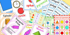 Geometry Properties Of Shape Display Pack KS1 Year 2