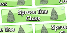 Spruce Themed Classroom Display Banner