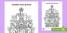 Canada's Coat of Arms Colouring Page
