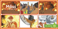 Māui and the Magic of Fire Story Sequencing