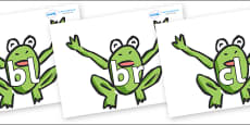 Initial Letter Blends on Frogs