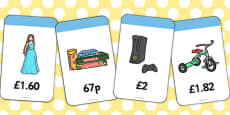 Toy Shop Prices Flashcards