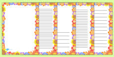 Flower Page Border