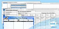 PlanIt - Computing Year 6 - Film-Making Assessment Pack