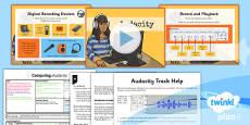 PlanIt - Computing Year 5 - Radio Station Lesson 1: Audacity Lesson Pack