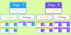 New Zealand Maths Stages 1-8 We Are Learning Display Pack