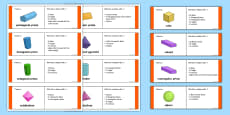 3D Shape Properties Loop Cards