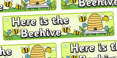 Here is the Beehive Display Banner