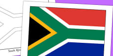 South Africa Flag Display Poster